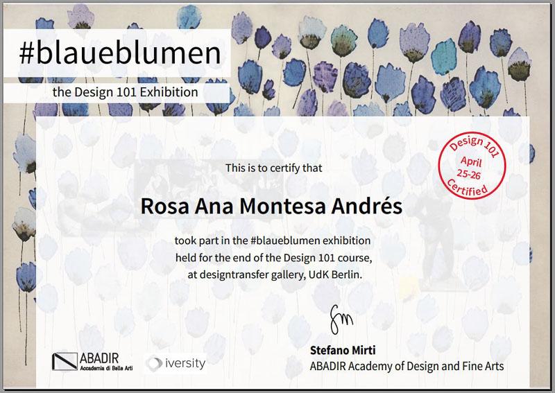 Certificado Design101 BlaueBlumen