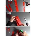 Cómo hacer un floc o lazo de mariposa con una bolsa de plástico para un traje de fallera valenciana