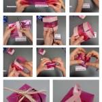 Como hacer una caja cuadrada con una botella rosa #gotasdesolidaridad reciclado creatiivo. rosa montesa