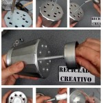 Cómo realizar una lámpara decorativa con una cafetera italiana How to make a lamp out of a Bialetti coffee maker