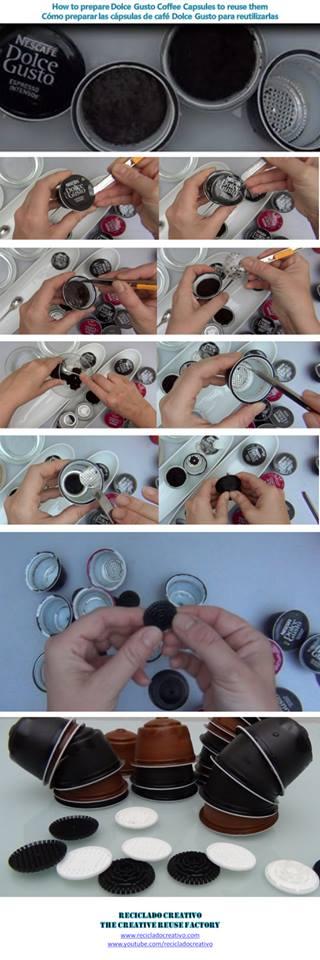 Cómo preparar las capsulas Dolce Gusto de Café para reciclarlas