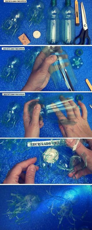 cómo realizar medusas con botellas de plástico (1)