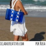 Bolso Capazo Playa Marinero con botellas de plástico recicladas