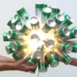 Entrega de la lámpara YoTambienQuieroUna de Reciclado Creativo