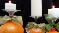 copas de vino convertidas en portavelas