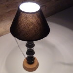 Lamparita de mesa realizada con capsulas de cafe Dolce Gusto - Lamp made whith coffee capsules