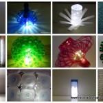 Decoración con tiras de LEDS y con iluminación navideña