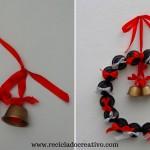 DIY Corona decorativa de Navidad con cápsulas de café