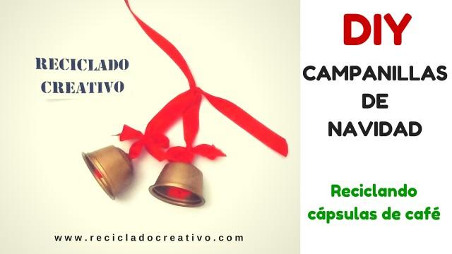 Campanillas de Navidad DIY con cápsulas de café