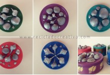 DIY cajas de galletas recicladas con estilo marinero