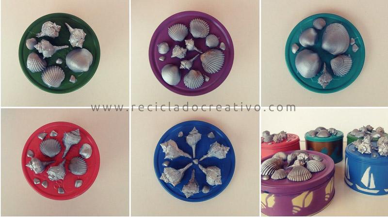 Manualidades Estilo Marinero.Diy Cajas De Galletas Recicladas Con Estilo Marinero Reciclado