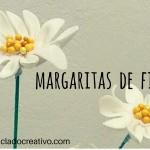 DIY Margaritas hechas con retales de fieltro