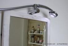 Telefonillo convertido en lámpara de Reciclado Creativo