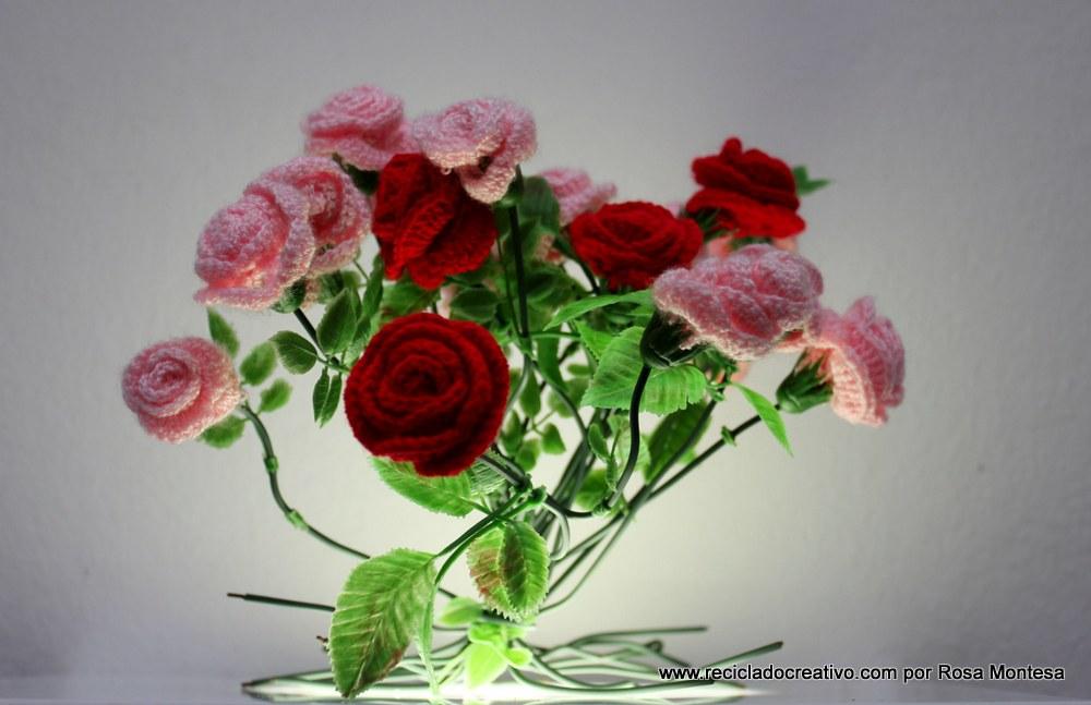 Claveles de ganchillo - Rosas de crochet