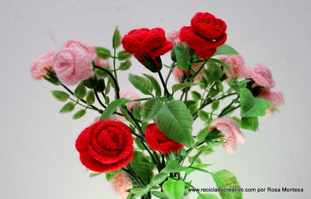 Flores con material reciclado crochet y pl stico 20 for Plantas decorativas de plastico