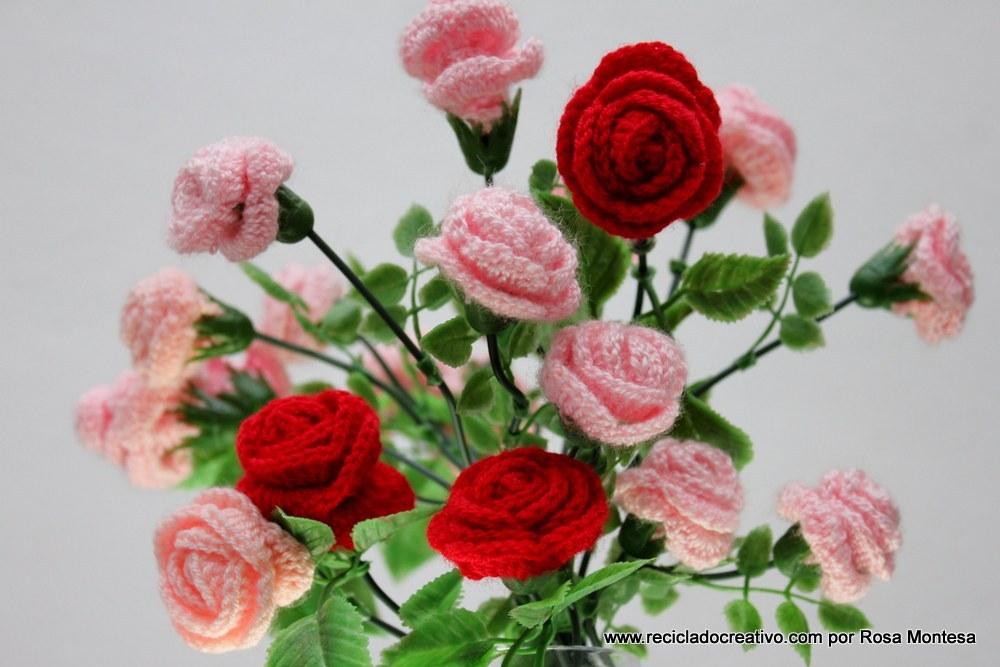 Flores De Crochet Rosas De Pitimini De Ganchillo Reciclado - Flores-ganchillo