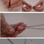Infographic cómo hacer bisutería con canillas de coser