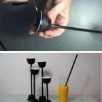 infographic cómo hacer un portavelas con cápsulas d