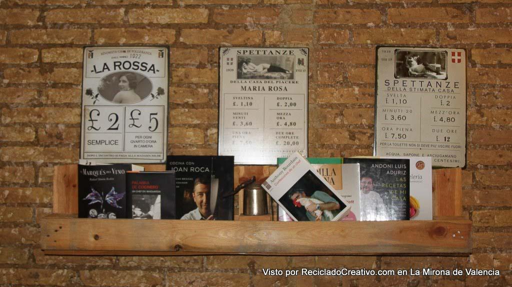 Restaurante La Mirona de Valencia - visto por Reciclado Creativo