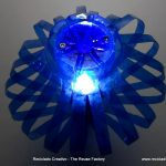 Lamp made with two plastic bottles