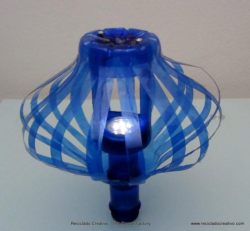 plástico dos pet Lámpara realizada azules con botellas de qSVpLUzMG