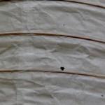 Lámpara de papel rota. Reciclado Creativo. Rosa Montesa