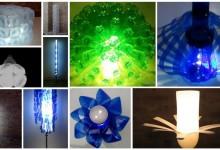 las top 10 lámparas con botellas de plástico de Reciclado Creativo