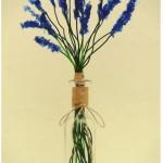 Flores Espigas de Lavanda hechas reciclando botellas de plástico pet