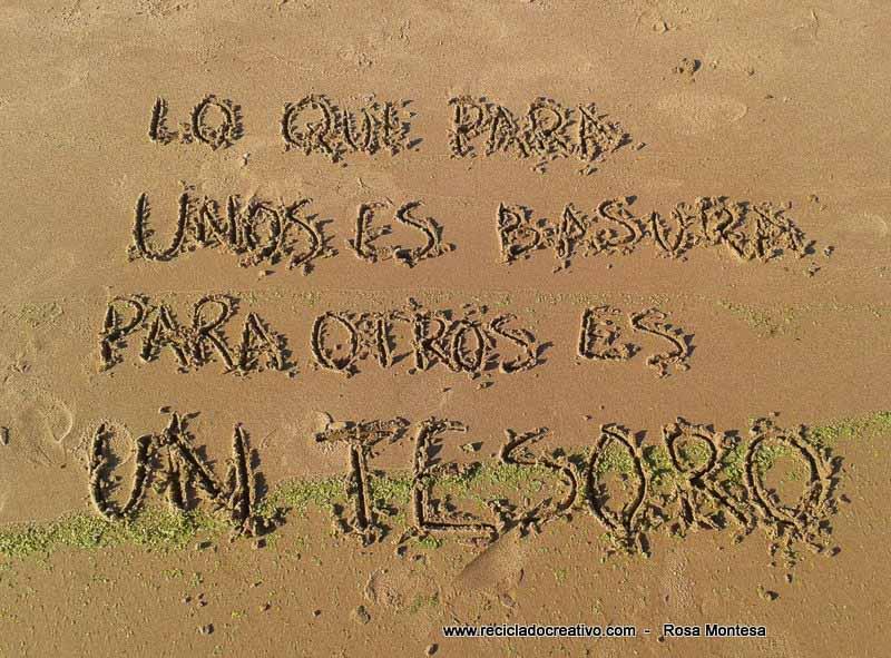 Mensajes De Amor Escritos En La Arena: Lo Que Para Unos Es Basura, Para Otros Es Un Tesoro Frases