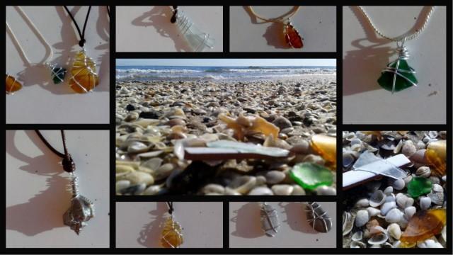 Tesoros del mar y de la playa convertidos en bisutería