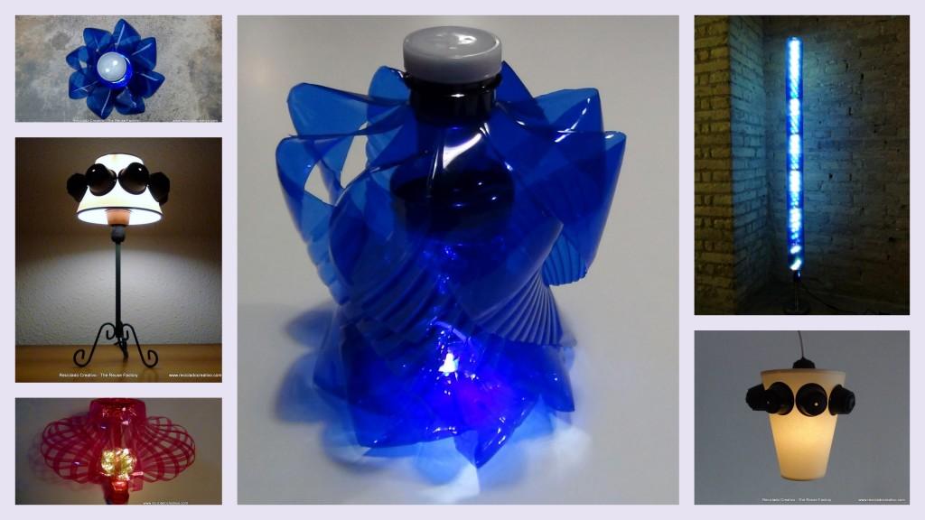 Más de 20 lámparas realizadas con material reciclado