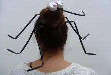 Peinado Araña para Halloween Reciclado Creativo