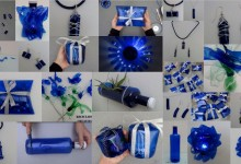 Top 10 reciclado de botellas de plástico de color azul - Top 10 blue recycled plastic bottles. Reciclado Creativo