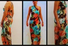 Cómo realizar un vestido de seda sin coser - How to make a silk dress