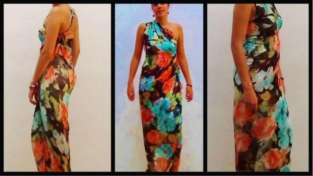 Cómo realizar un vestido de seda sin coser - How to make a silk dress