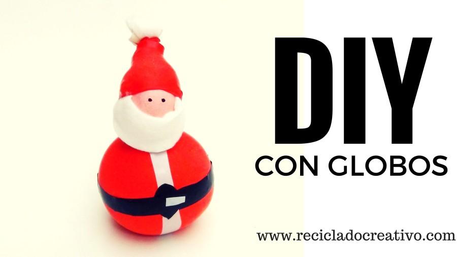 Papá Noel DIY hecho con globos y sal