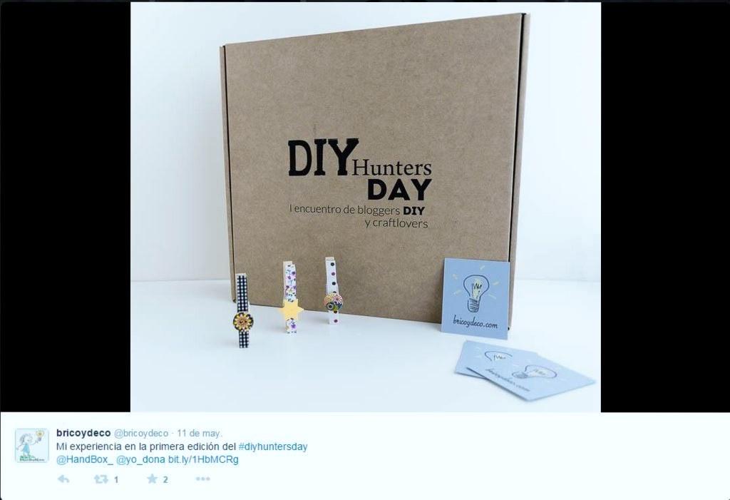 BricoyDeco en DIYHUNTERSDAY - RecicladoCreativo