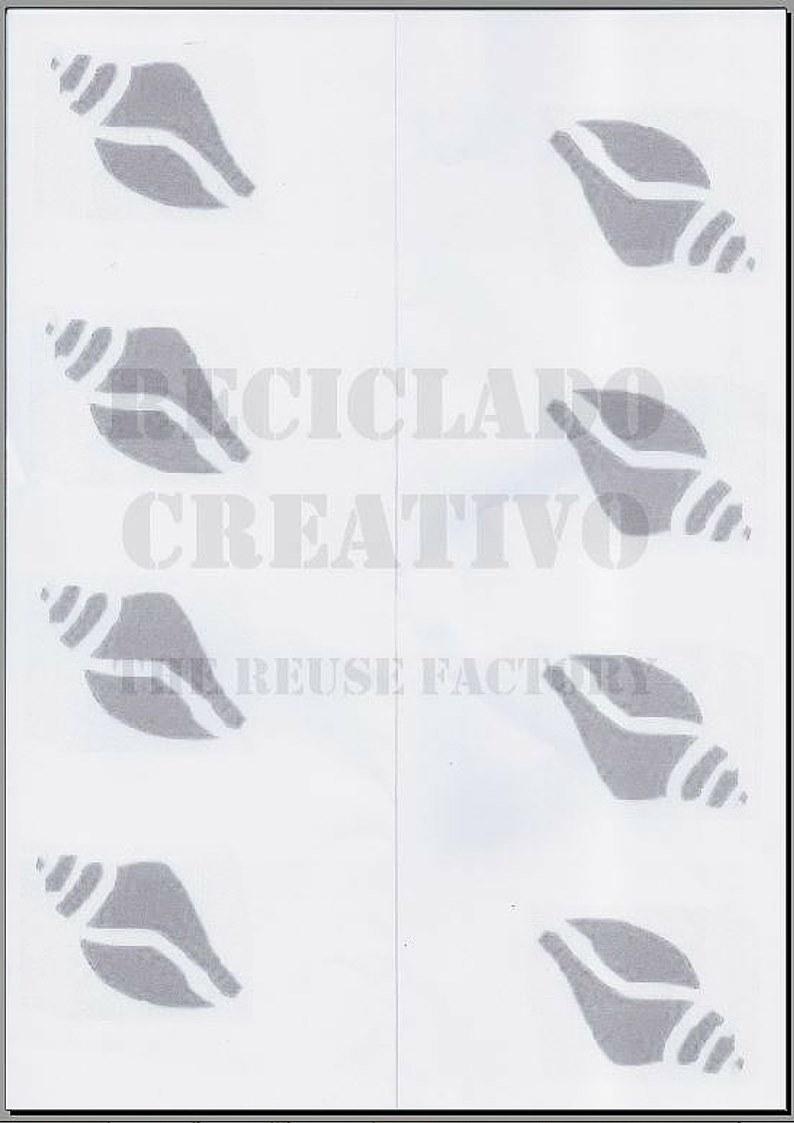 Plantilla caracolas RecicladoCreativo