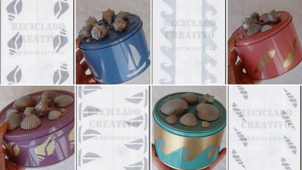 Plantillas motivos playa RecicladoCreativo