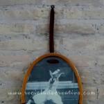 marcos de fotografía a partir de raquetas de tenis
