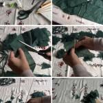 Árbol de navidad reciclando material de hospital