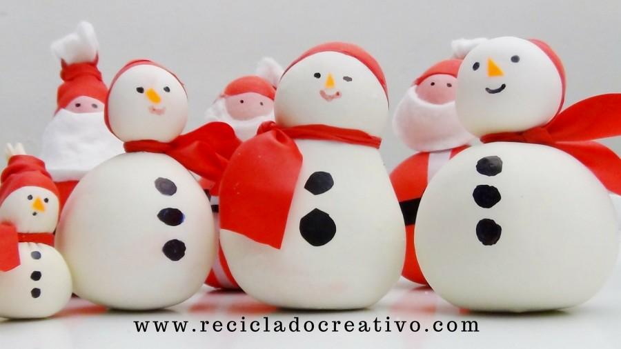 Muñeco de nieve - Snowman - Manualidad con globos y sal. Balloons and salt.