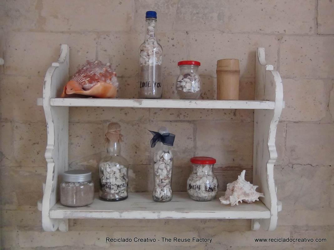 souvenirs from holidays. Summer in a bottle. Recuerdos de las vacaciones. Verano en una botella. Reciclado Creativo. The Creative Reuse Factory