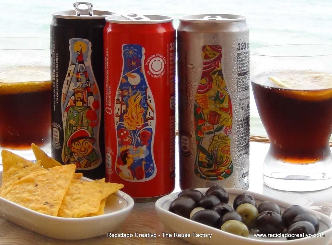 Souvenirs - Special Edition Coca Cola cans - Edición especial de CocaCola fiestas de Cataluña. Reciclado Creativo, The Reuse Factory