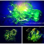 De botellas de plástico, a flora y fauna marina. Medusas, peces, corales, plantas y flores soñadas