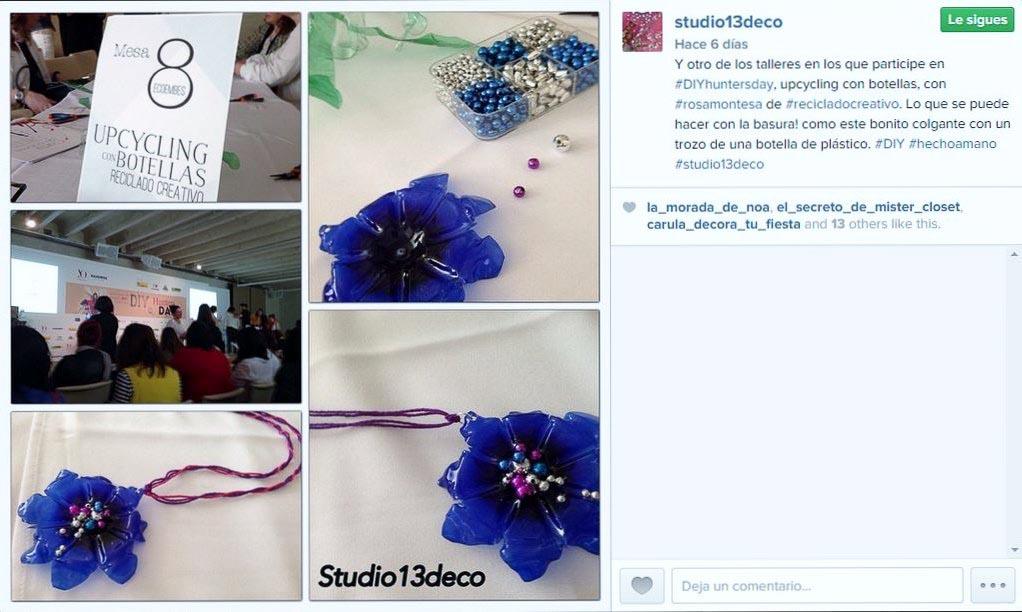 Studio13Deco Instagram en Taller Upcycling Reciclado Creativo
