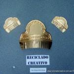 Peinetas de Fallera Valenciana realizadas con material reciclado