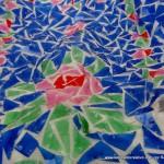 Corpiño de fallera valenciana siglo XXI con material reciclado