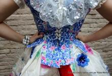 Floc, lazo para traje de fallera valenciana... Con material reciclado