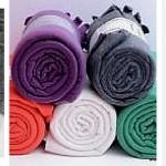 DIY Poncho Manta Sin coser a la Moda con una manta de Ikea Polarvide